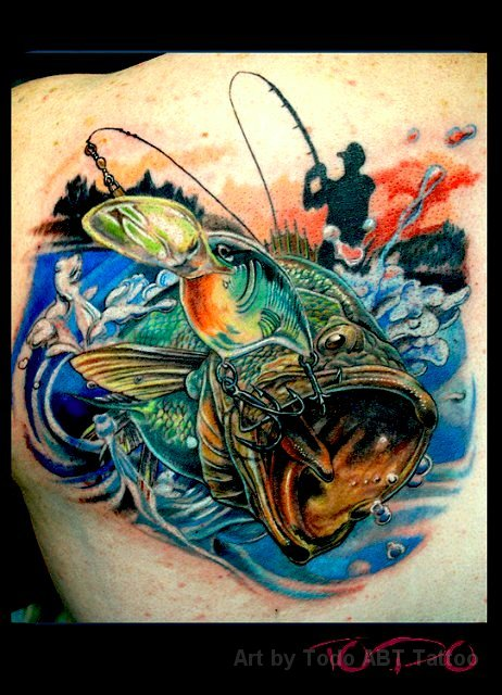 Tattoos by todo for Bass fishing 3d
